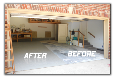 Epoxy Garage Floor Paint Before and After